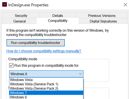 Change Compatibility Mode