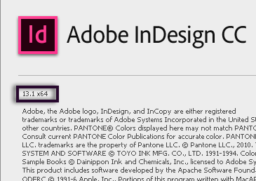 InDesign version