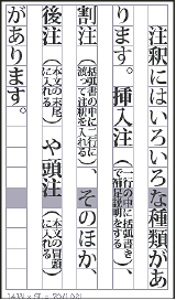 Text set in warichu