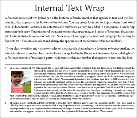 Internal Text Wrap