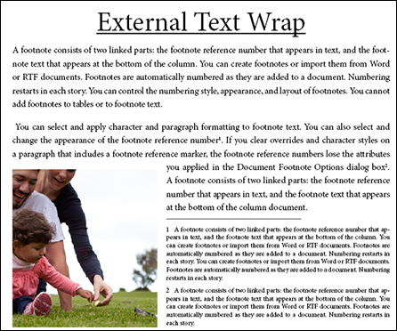 External Text Wrap