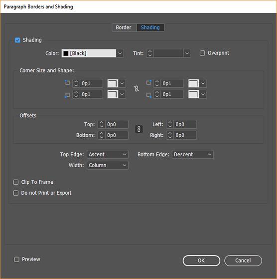 Format paragraphs in Adobe InDesign