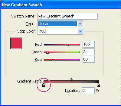 Create a gradient swatch