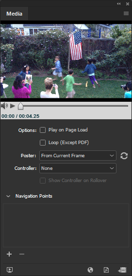 Add movie and sound files to InDesign documents