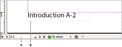 Section prefix in document window