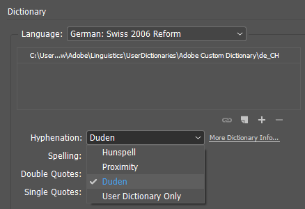 Duden hyphenation