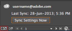 Sync status from the document status bar