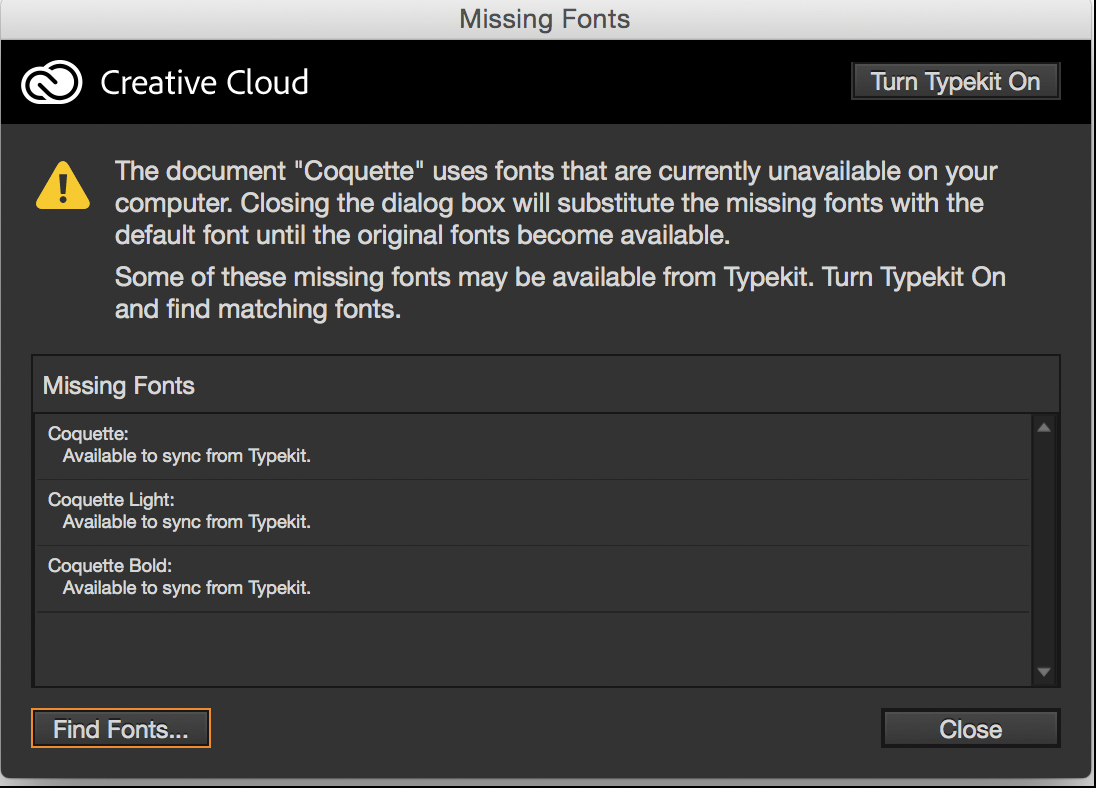 Install and use fonts in indesign make missing fonts available ccuart Choice Image