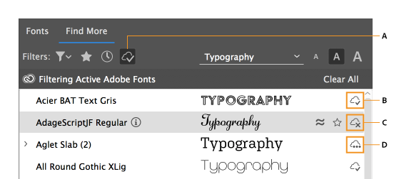 Use fonts in InDesign