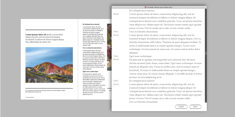 View annotations within InDesign