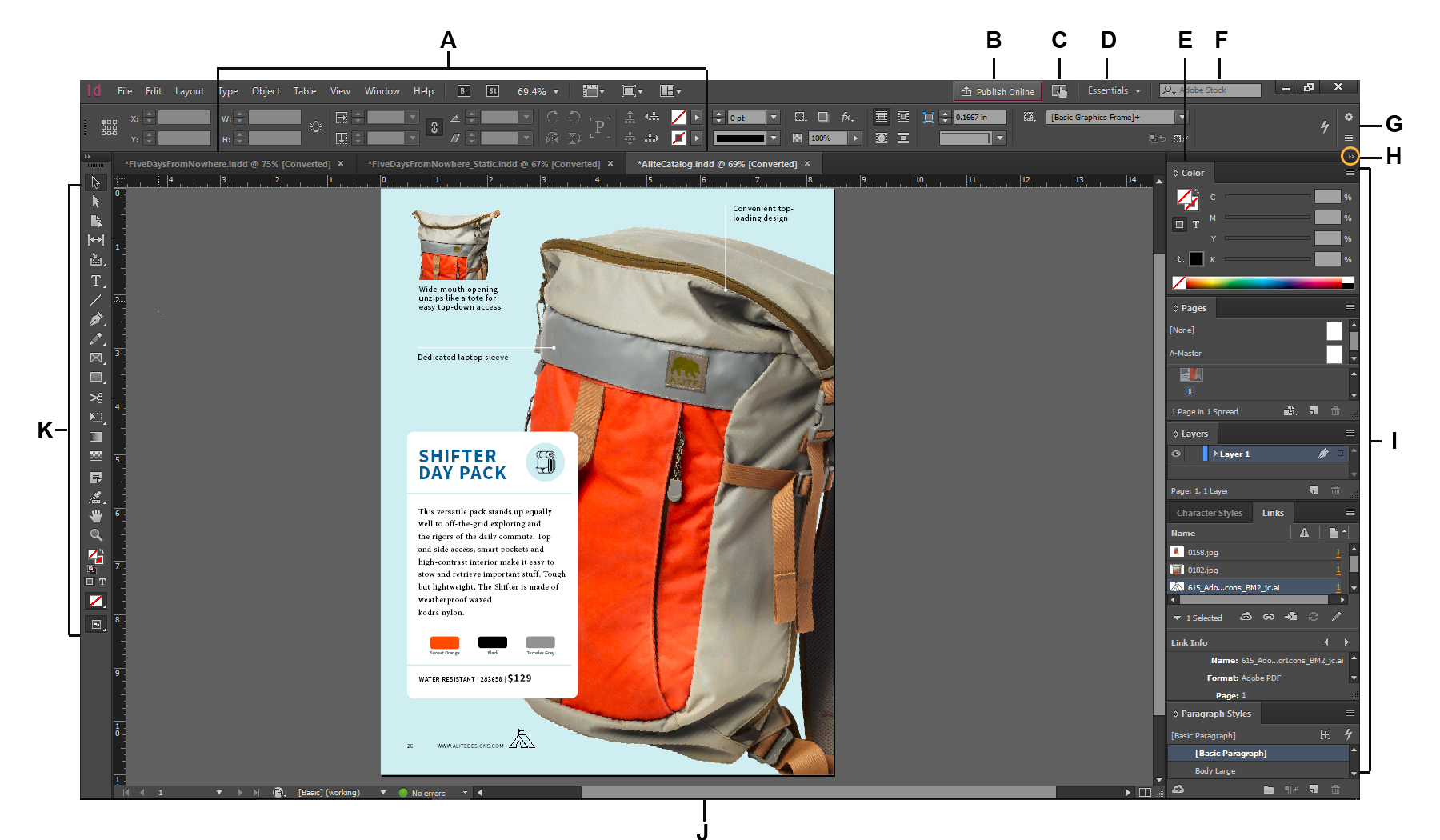 detailed look 62d7b 10e8c Workspace basics in InDesign