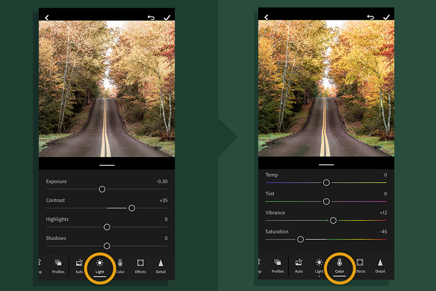 Adjust the color settings to increase color intensity
