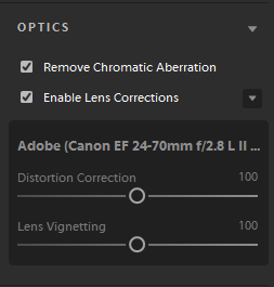 Enable Lens Correction