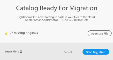 Get catalog ready and begin migration