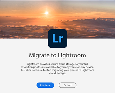 Migrate to Lightroom