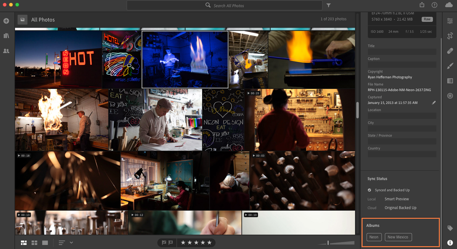 Check which albums a photo belongs to