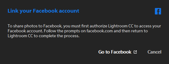 Link your Facebook account