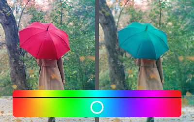 Adjust hue locally without affecting colors in the rest of the photo