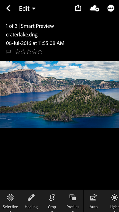 Lightroom Loupe View