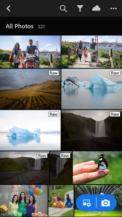 All Photos view in Adobe Photoshop Lightroom CC for mobile (iOS)