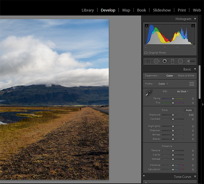 Lightroom Classic Basic panel in the Develop module