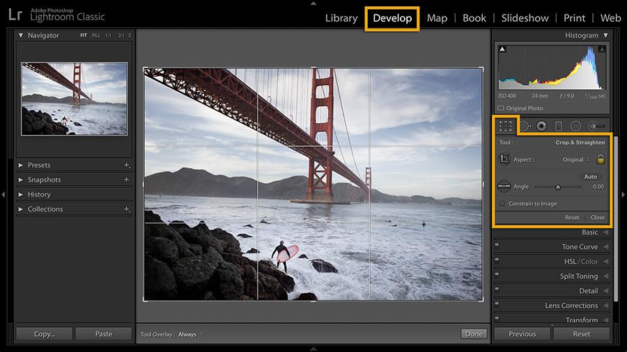 Crop And Straighten Your Photos Adobe Photoshop Lightroom Tutorials