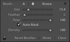 Brush settings in Lightroom Classic CC
