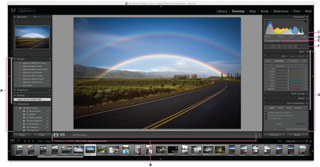Lightroom Classic CC Develop module