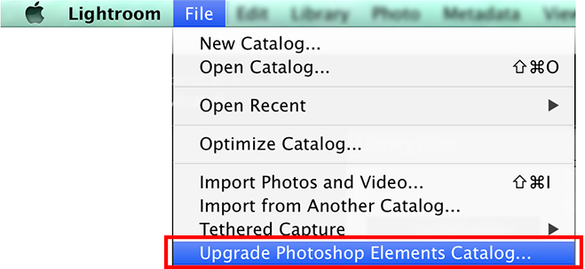 Import a Photoshop Elements catalog in Lightroom Classic CC