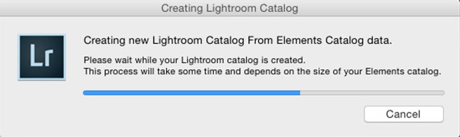 Lightroom Classic CC catalog creation