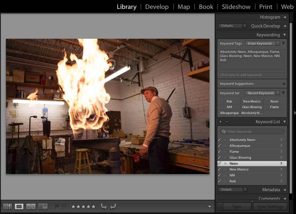 Lightroom Classic CC Adding keywords to photos in the Library module