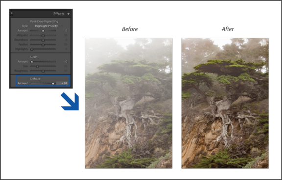 Correction du voile dans Lightroom Classic CC