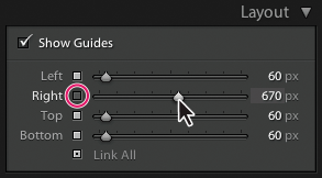 Lightroom Classic CC set the slide margins