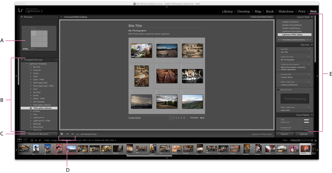 Adobe Photoshop Lightroom CC web module