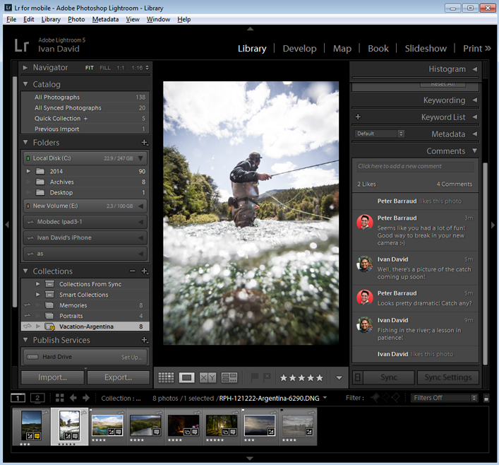 Lightroom on the web for collaborative feedback and commenting
