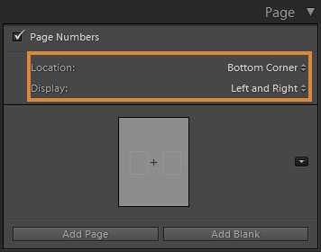 Choose the position of Page Number to display