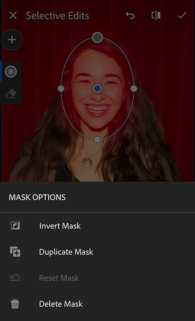 Selective edits - Mask options