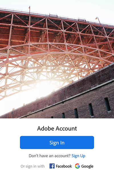 Sign in to Lightroom for mobile on your Android device