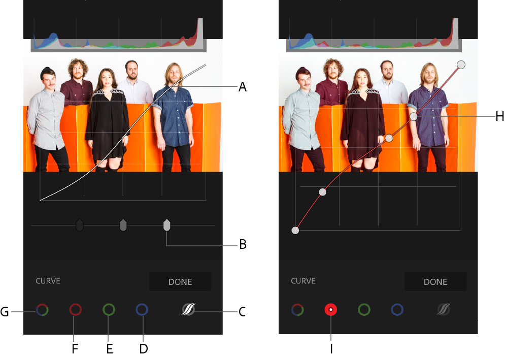 Using the Tone Curve in Adobe Photoshop Lightroom CC for mobile (iOS)