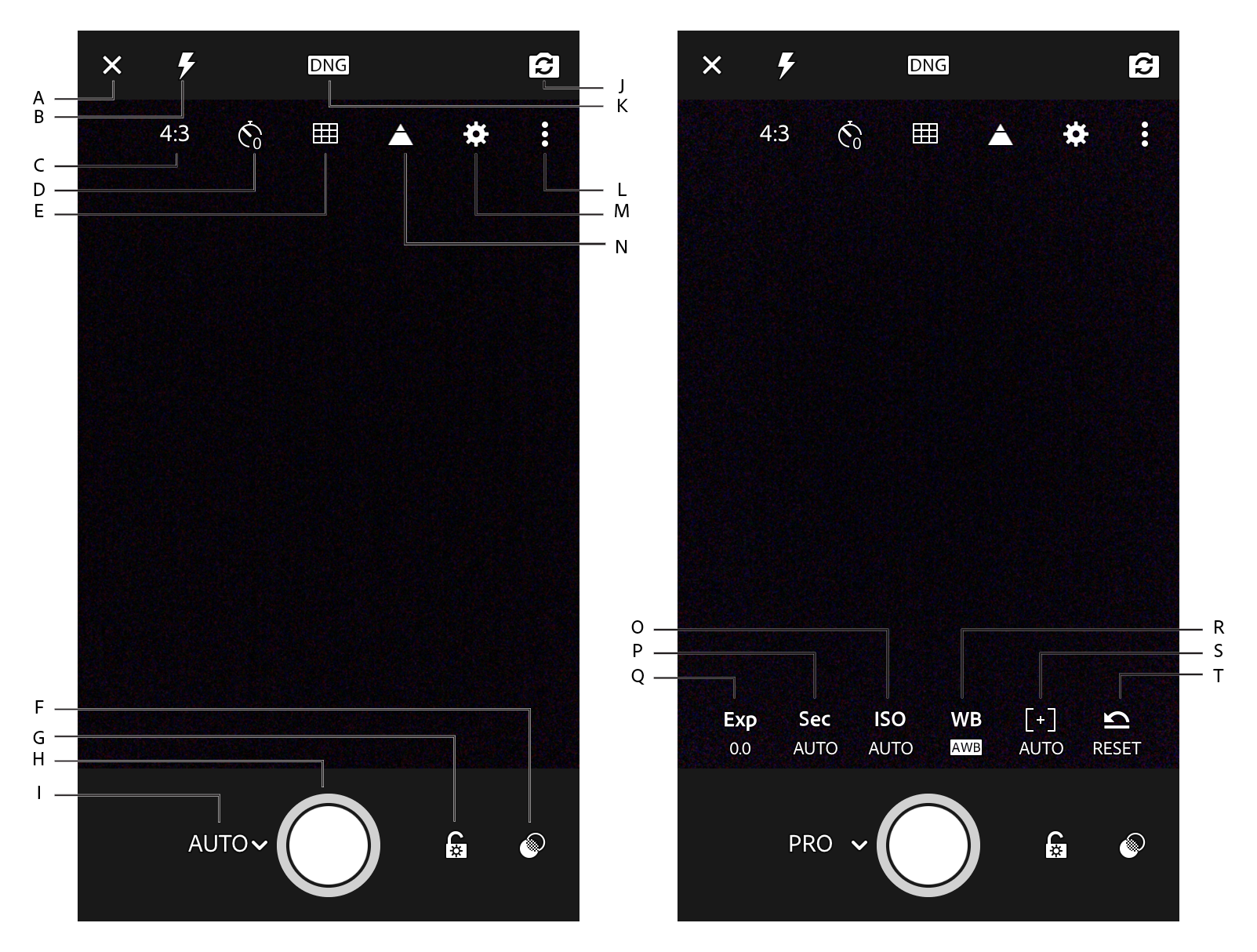 Lightroom Capture interface options