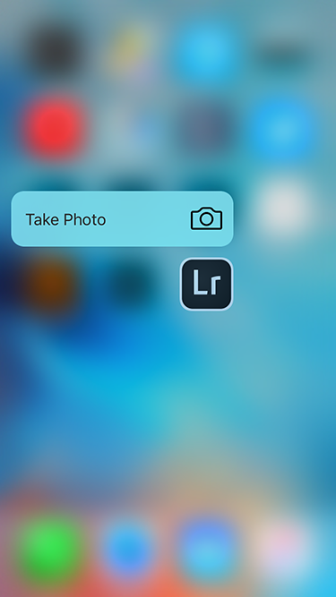 Lightroom 3D Touch サポート