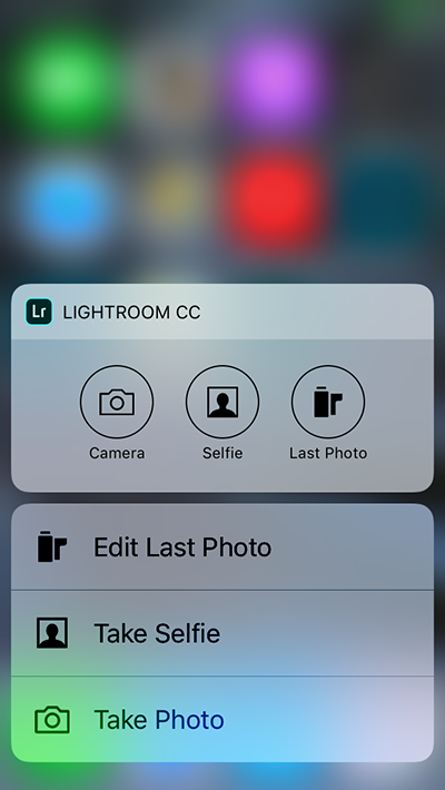 Lightroom 3D touch support
