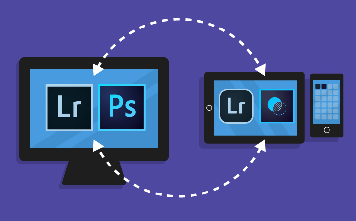 Apps at work in the Creative Cloud Photography plan