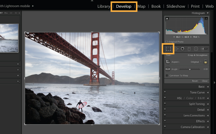 Crop and straighten your photos adobe photoshop lightroom cc tutorials locate and select the crop straighten tool icon in the toolbar which opens the options for the tool alternatively press r on your keyboard to open ccuart Images