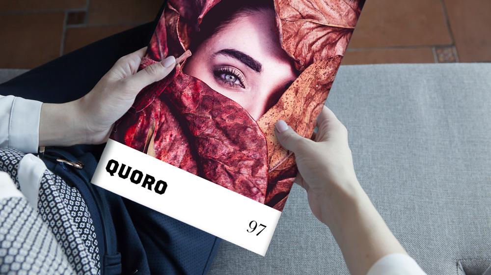 magazine cover with woman face covered