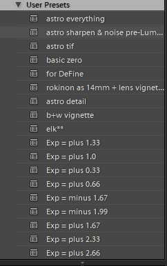 Presets sorting issue in Lightroom Classic 7.3 and later