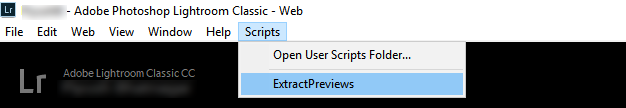 Choose ExtractPreviews from the Scripts menu