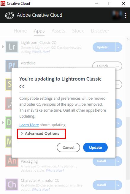 lightroom cc versions list