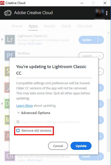 Older version on LR not deleting after update | Adobe Community