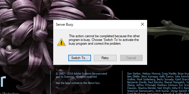 Resolve Server Busy error in Lightroom